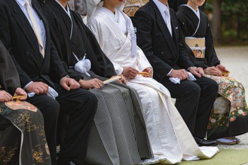 日本の古風な結婚式