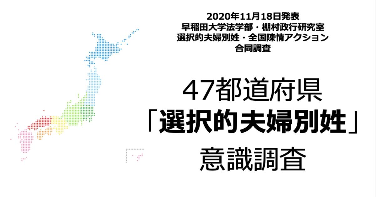 47都道府県「選択的夫婦別姓」意識調査TOP画像