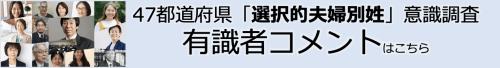 47都道府県意識調査有識者コメントページへのリンク